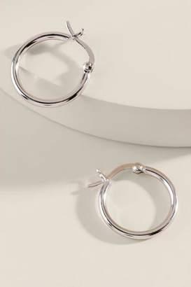 francesca's Reah Metal Clasp Hoops - Silver