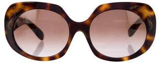 Zac Posen Tortoiseshell Embellished Sunglasses