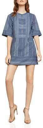 BCBGMAXAZRIA Striped Zip-Front Shift Dress