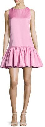 ZAC Zac Posen Mandy Dropped-Waist Mini Dress, Sunset Pink $595 thestylecure.com