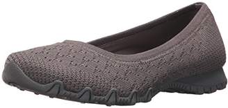 Skechers Women's Bikers-Witty Knit Ballet Flat
