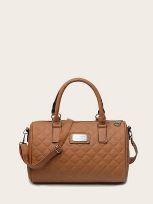 Shein Quilted Zipper Shoulder Bag