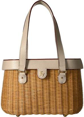Frances Valentine - Arielle Wicker Satchel with Lid