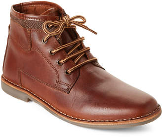Steve Madden Tan Manner Lace-Up Leather Boots