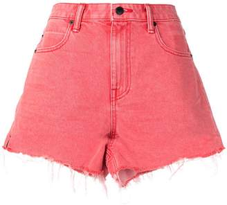 Alexander Wang frayed-hem denim shorts