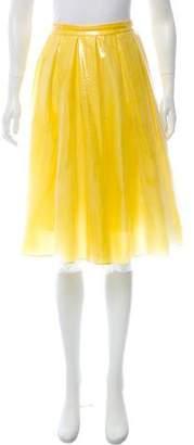 Honor Embossed Knee-Length Skirt