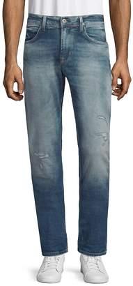 Hudson Men's Distressed Slim Straight Jeans