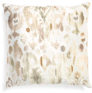 Made In India 22x22 Ikat Pattern Pillow