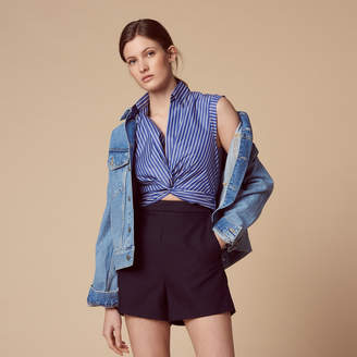 Sandro Playsuit with striped crossover top