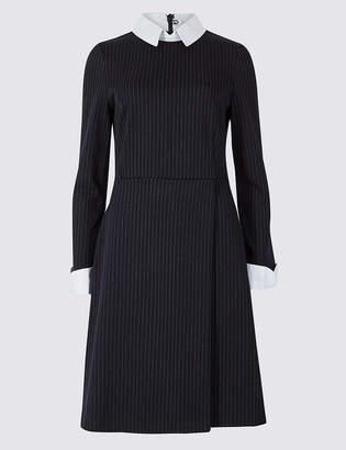 Marks and Spencer Striped Long Sleeve Skater Dress