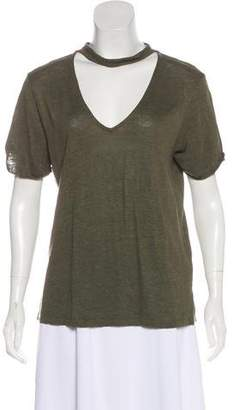 Sanctuary Linen Short Sleeve Top