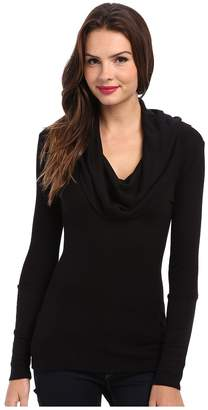 Splendid Thermal L/S Cowl Neck Tunic Women's Long Sleeve Pullover