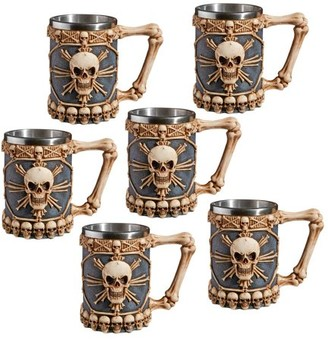 Toscano Design Skullduggery Tankard Mug: Set of Six