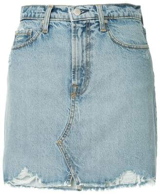 Nobody Denim Piper distressed mini skirt
