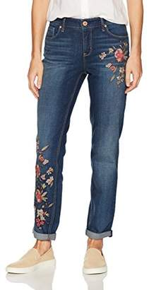 Miraclebody Jeans Miracle Body Women's Perfect Boyfriend Roll Cuff Jean