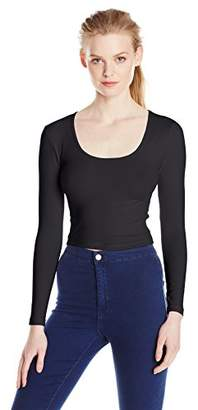 American Apparel Women's Reed Long Sleeve Crop Top $16.79 thestylecure.com