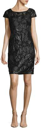 Calvin Klein Women's Sequin Cap Sleeve Dress