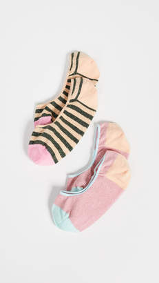 Hysteria By Happy Socks 2 Pack Claudia Invisible Socks