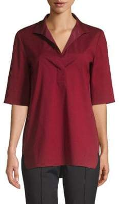 Lafayette 148 New York Daley High-Low Blouse