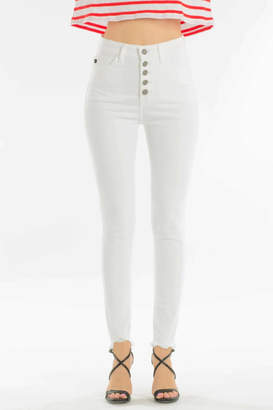 Fly London Kancan High Waisted Button Skinny