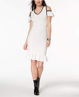 XOXO Juniors' Cold-Shoulder Bodycon Dress