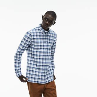 Lacoste Men's Slim Fit Check Stretch Oxford Shirt