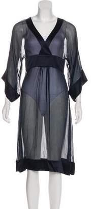 Diane von Furstenberg Thea Semi-Sheer Dress