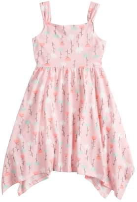 Girls 4-10 Jumping Beans Patterned Handkerchief Dress