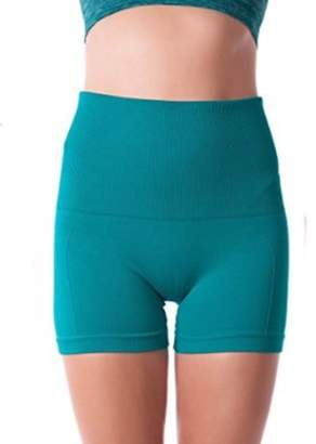 ONLINE Comfortable High Waist Tummy Control Workout Pant Leggings For Women (X-Large, Jade)