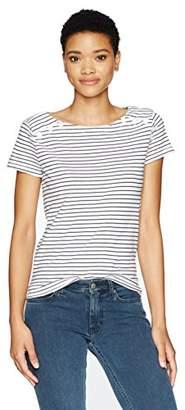 Stateside Women's Skinny Stripe Tee W/Bottons