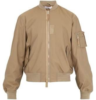 Ribbed-trimmed bomber jacket