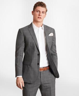 Brooks Brothers BrooksGate Milano-Fit Windowpane Wool Suit Jacket