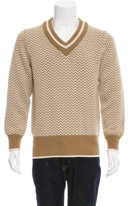 Kent & Curwen Zig-Zag Rib Knit Sweater w/ Tags