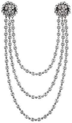 Gucci Crystal chain brooch