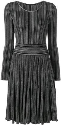Valenti Antonino metallic ribbed-knit dress