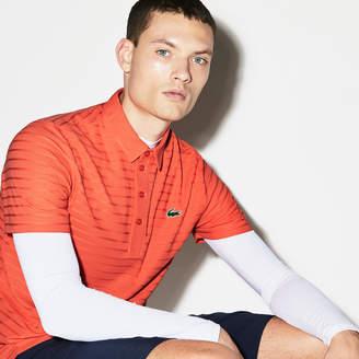 Lacoste Men's SPORT Golf Striped Tech Jacquard Jersey Polo Shirt