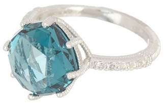 Judith Ripka Sterling Silver Flora Gemstone Ring