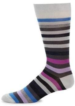 Saks Fifth Avenue Ribbed Stripe Crew Socks