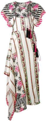Etro long handkerchief hem printed dress