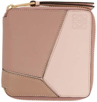 Loewe Pink Puzzle Square Wallet