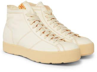 Visvim Foley Folk Leather High-Top Sneakers - Men - Neutral
