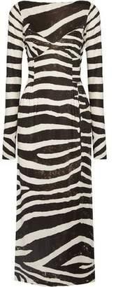 Marc Jacobs Zebra-Print Stretch-Jersey Dress