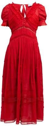 Self-Portrait Self Portrait Ruffled Georgette Dress - Womens - Red