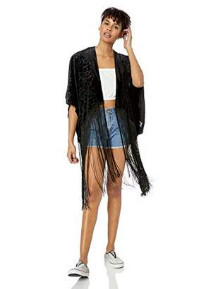 Roxy Junior's Wings of Raven Open Kimono Top