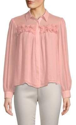 Endless Rose Ruffled Button-Down Shirt
