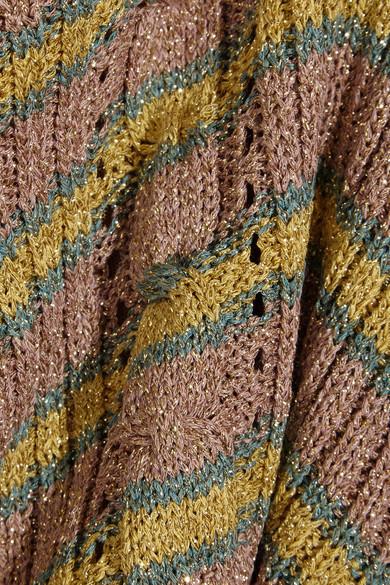 Philosophy di Lorenzo Serafini - Metallic Striped Cable-knit Sweater - Yellow 3