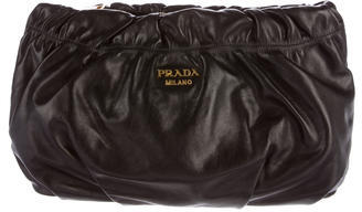prada Prada Nappa Leather Clutch