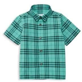 Burberry Boy's Sammi Plaid Dye Button-Down Shirt