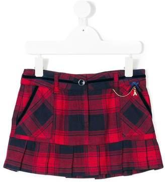 Patrizia Pepe Junior ruffle-trimmed tartan skirt