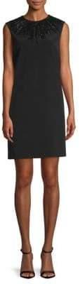 Lanvin Embellished Neck Shift Dress